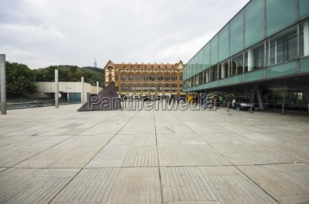 spain barcelona exterior of museum cosmocaixa