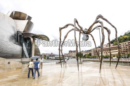 spain bilbao spider sculpture of louise