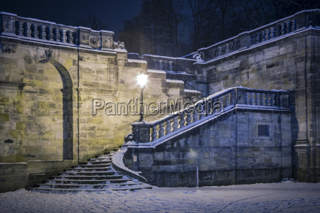 germany coburg arcades in winter by