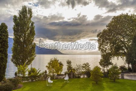 switzerland montreux lake geneva park of