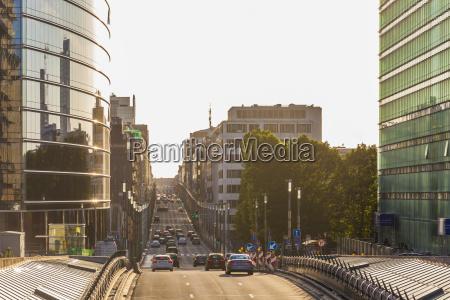belgium brussels view to rue de