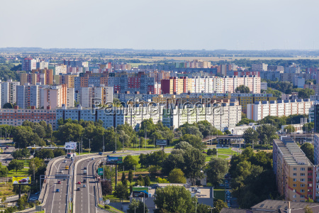 slovakia bratislava cityscape with petrzalka neighborhood