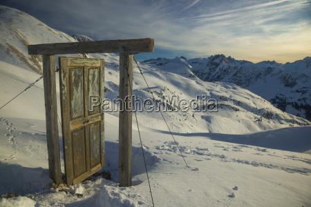 fahrt reisen winter wolke alpen abend