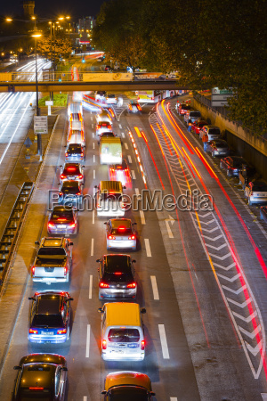 germany cologne rush hour city traffic