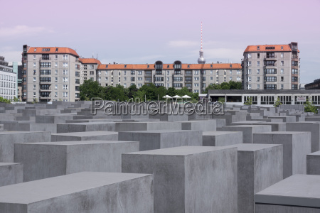 germany berlin holocaust memorial concrete stelaes