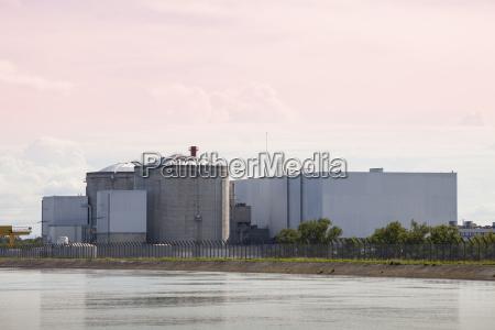 frankreich elsass blick auf das atomkraftwerk