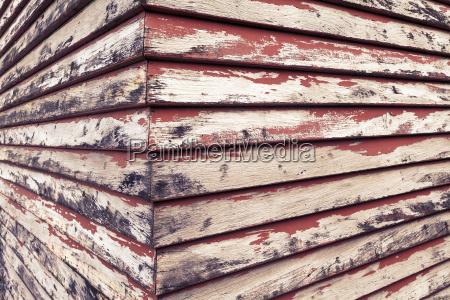 new zealand wooden hut close up
