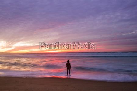 fahrt reisen romantisch wolke strand abendhimmel