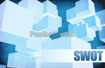 swot on futuristic abstract