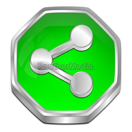 dekorative gruene share button 3d