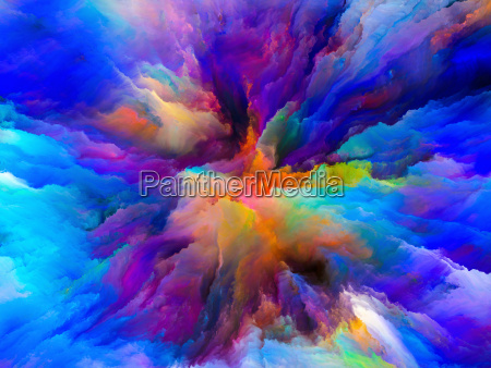 unfolding of surreal paint