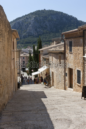 spain majorca view of pollenca old