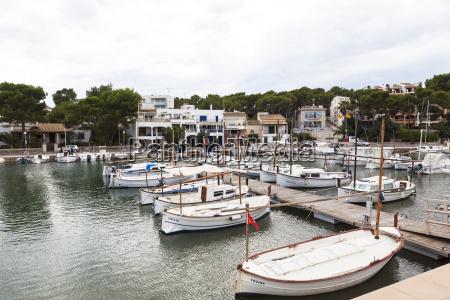 spain mallorca view of boats at