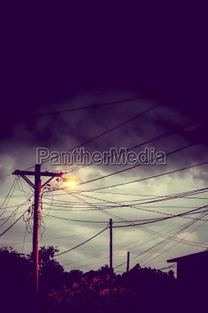 stadt nacht nachtzeit elektrisch leuchte lampe