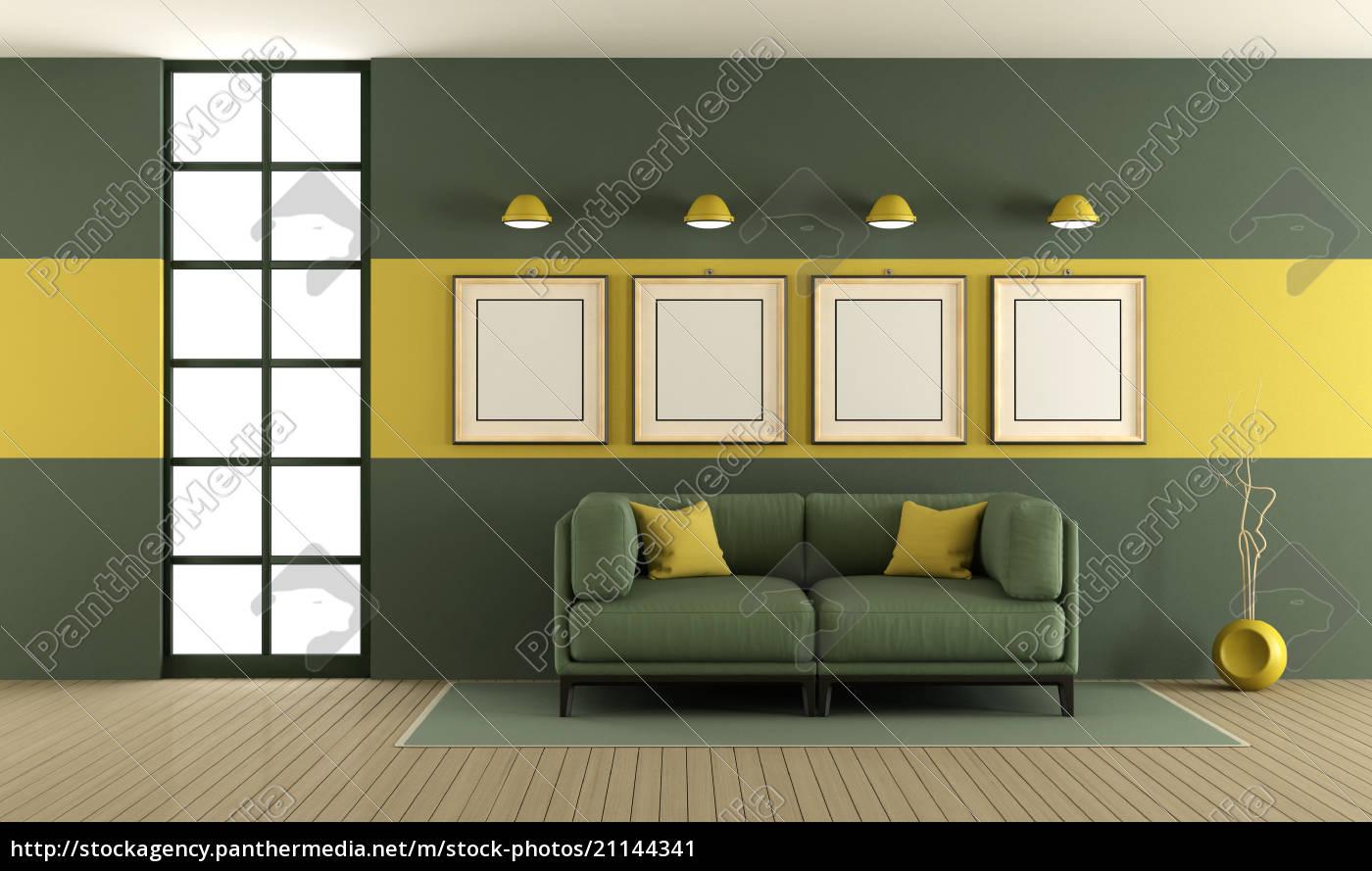Lizenzfreies Bild 15 - grünes und gelbes wohnzimmer