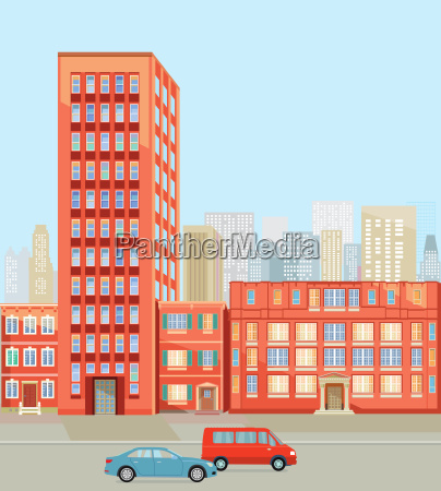 buildings in the big city illustration