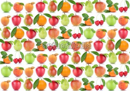 fruechte hintergrund apfel orange frucht AEpfel
