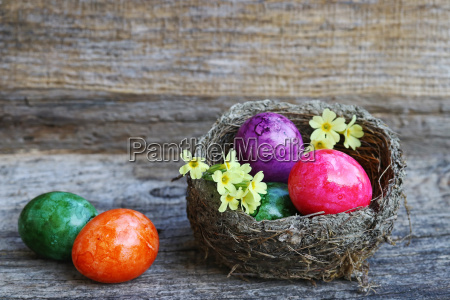 happy easter an easter basket with