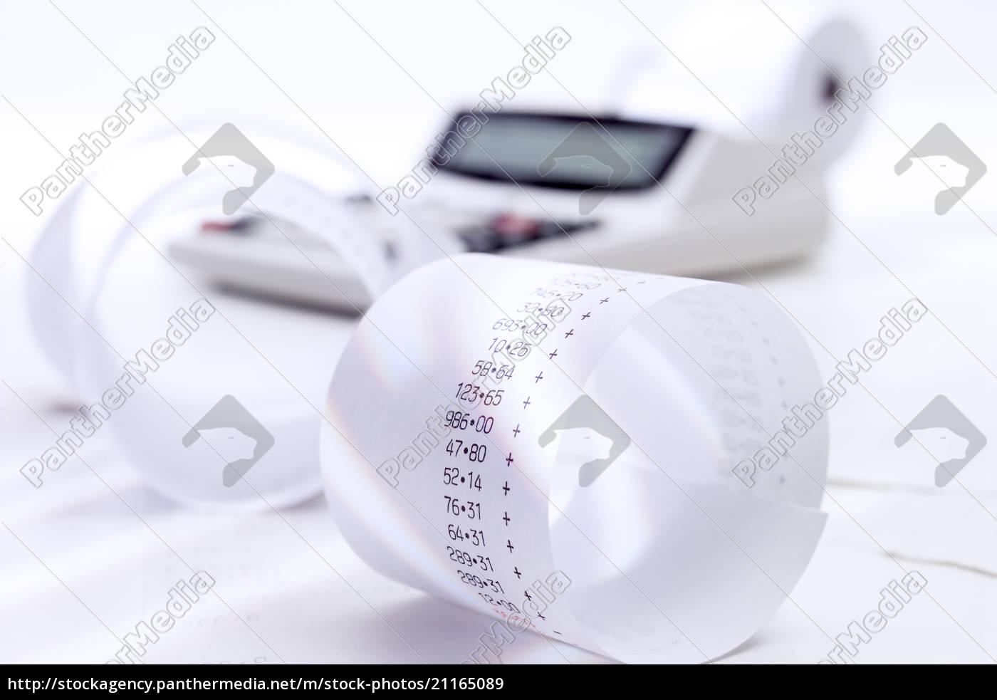 tischrechner, und, additionsrollen - 21165089