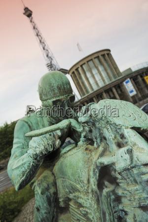 germany berlin biker monument close up