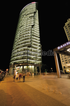germany berlin potsdamer platz at night