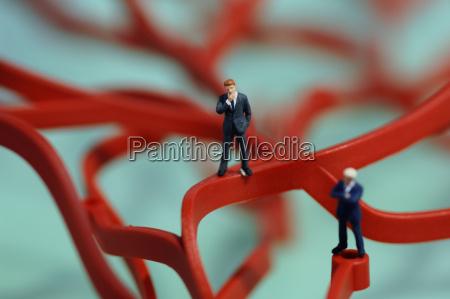 figurine of business men