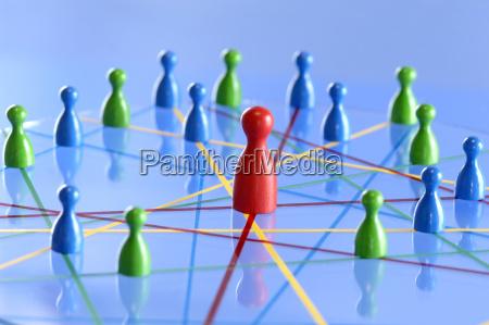 netzwerk mit figuren nahaufnahme