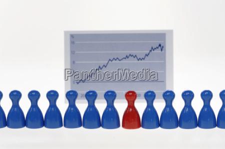 spielstuecke vor graphen nahaufnahme