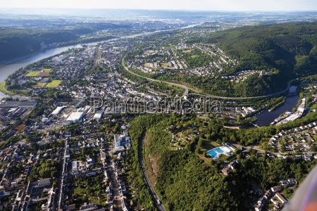 europe germany rhineland palatinate lahnstein view