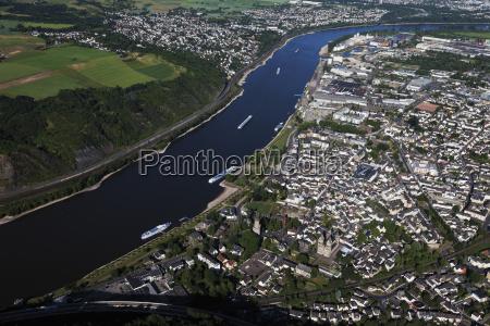 europe germany rhineland palatinate andernach aerial