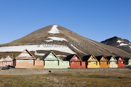 europe norway spitsbergen svalbard longyearbyen view