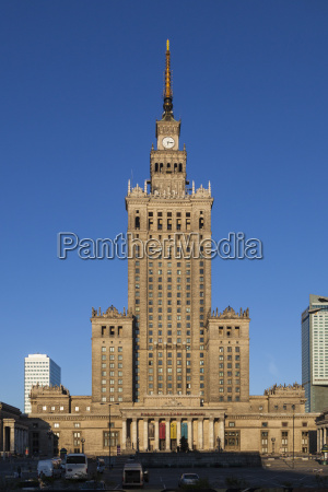 poland warsaw palace of culture and