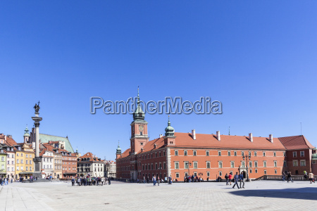 poland warsaw royal castle in castle
