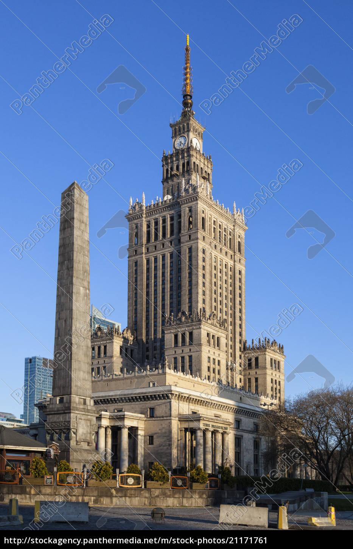 polen, warschau, kultur-und, wissenschaftspalast - 21171761