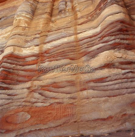 jordan petra rock formation sediment