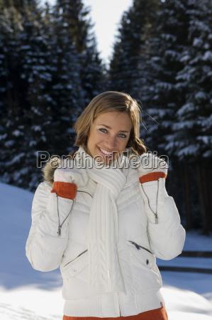 austria altenmarkt young woman in snow