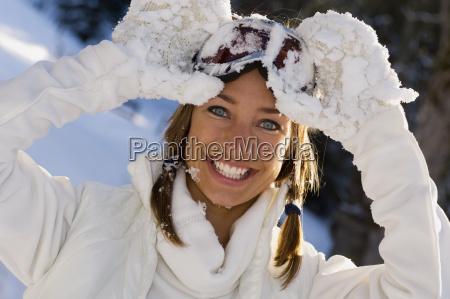 austria altenmarkt young woman wearing ski