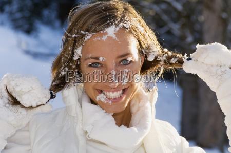 austria altenmarkt young woman smiling portrait
