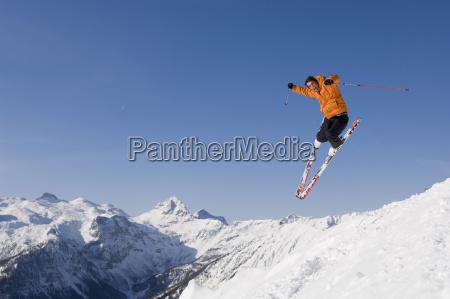 oesterreich salzburger land altenmarkt zauchensee skifahrerspringen