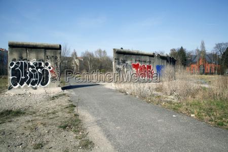 germany berlin graffiti on piece of