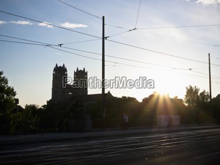 germany bavaria munich view of sunset