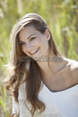 germany bavaria young woman smiling and