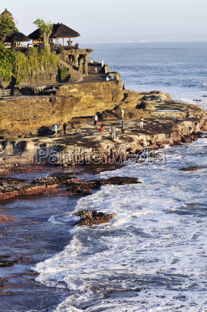 indonesia bali tanah lot temple on