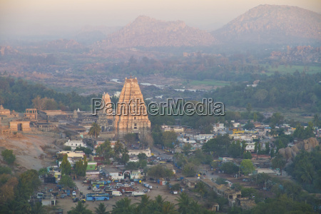 india karnataka hampi view of virupaksha