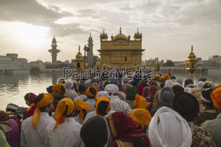 india punjab amritsar people waiting at