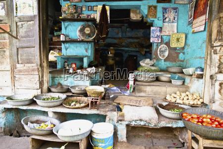 indien jodhpur blick auf kleine laden
