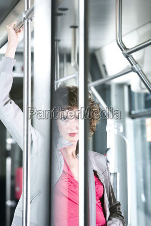 germany duesseldorf young woman portrait