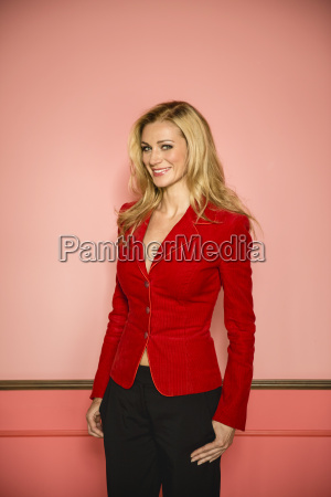 germany stuttgart businesswoman smiling portrait