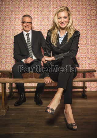 germany stuttgart business couple sitting on