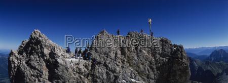 summit cross zugspitze upper bavaria germany